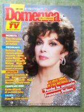 La Domenica del Corriere 10 Novembre 1988 Mina Lollobrigida Nielsen Mariano Ufo