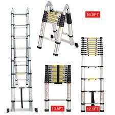 105ft 125ft Multi Purpose Telescopic Extension Ladder Aluminum Step Foldable