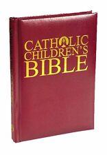 Catholic Children's Bible NEW Burgundy Leatherette (VC718) Gift Boxed