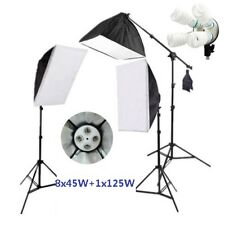 Photography Studio 2425W  Softbox Continuous Lighting Lightstand BoomArm Kit AU