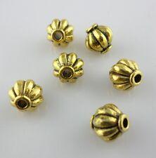 16pcs Tibetan Gold Lantern Spacer Beads 8x7.5mm Charms Bracelet Beading Making