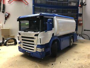 Camion / LKW / Truck Scania Tamiya 1:14 Rc Tamiya Cisterna De Agua Funcional