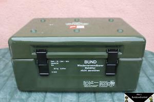 Transpotkiste Kiste Bundeswehr Transportbox GFK Lhotellier Montr 60x40x30 Gebr 1