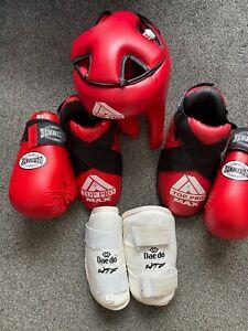 Youths Childs ITF Taekwondo Top Pro sparring kit lot B