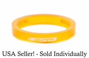 "x1 FSA Polycarbonate 1-1/8"" Orange 5mm Thick Bicycle Headset Spacer Bike"