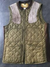 VINTAGE BARBOUR SHOOTING WAISTCOAT LARGE GREEN  Gilet 46 Inch Chest