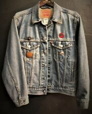 used VINTAGE LEVI'S indian motorcycle jean jacket size Small with Indian pins
