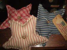Primitive STARS Three (3) Homespun Bowl Filler Ornies Rustic Folk Art Country
