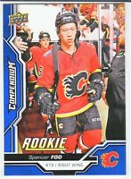 2018-19 Upper Deck Compendium Series 2 BLUE ROOKIE RC Spencer Foo