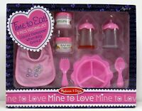 Melissa  Doug Mine to Love Time to Eat Doll Accessories Feeding Set 8 pcs