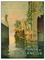 TRAVEL BALBIANELLO ITALY LAKE COMO VILLA BEAUTIFUL STATUE POSTER PRINT BB7445B