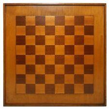 EARLY 20TH C AMERICAN VINT FOLK ART GAME BOARD IN BIRCH & WALNUT W/RAISED CENTER