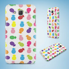 SAMSUNG GALXY J SERIES PHONE CASE BACK COVER RAINBOW PINEAPPLE FRUIT PATTERN