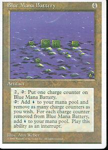 Magic The Gathering 4TH Édition Artefact Bleu Mana Batterie