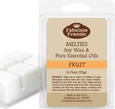 FRUIT 2.75oz Pure & Natural Soy Candle Meltie/Tart/Melts by Fabulous Frannie
