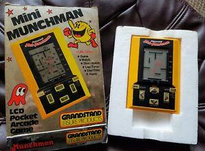 Grandstand Mini Munchman Handheld LCD Game and Watch rare Nintendo Vintage 1981