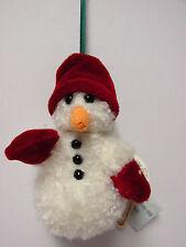 "Boyd's #562653, ""D. B. Chillymitts"" Snowman Plush Ornament * Brand New"
