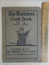 Antique Orig 1916 Josephine Bartlett The Bulletin's Cook Book Contest Recipes
