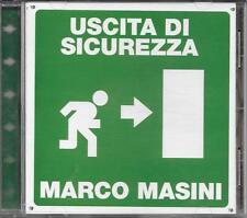 """MARCO MASINI - RARO CD 1 STAMPA """" USCITA DI SICUREZZA """" + TRACCIA ROM"""