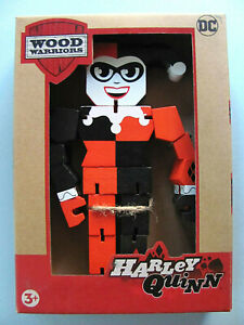 Wood Warriors Harley Quinn 201X NEW DC Comics Wooden Action Figure Series 1 PPW