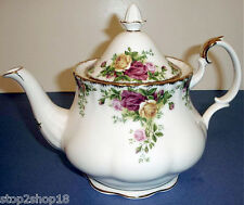 Royal Albert Old Country Roses Tea Pot Large 6-Cup Gold Trim New
