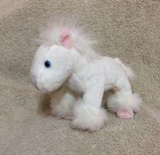 """RUSS Horse White Pink Stuffed Soft Plush Animal 7"""""""