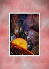 Dr Who Tribute Cast Art Print. A Lord Reborn. Ecclestone, Rose, Mickey, Cpt Jack