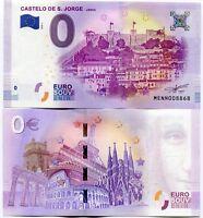 Castelo de Sao Jorge Portugal 0 Euro Souvenir Note 2018 Series 1 St Jorge Castle