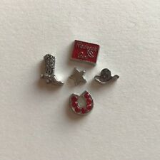 NEW Floating Locket Charms * Cowgirl * Redneck Girl Set *