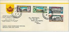 61263  - BRUNEI - POSTAL HISTORY - FDC COVER   SG #  192/95 1972 - ROYALTY