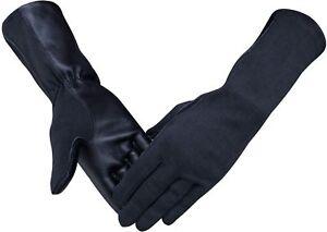 Nomex & Lambskin Genuine Leather Pilot Tactical Flight Gloves Black,Green