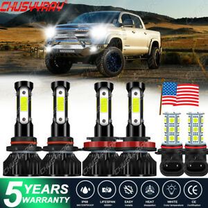 Para For Toyota Tundra 2007-2012 Combo Bombilla luz antiniebla faros LED 4 lados