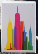"New York City Skyline Vintage Travel Poster 2"" X 3"" Fridge Magnet. NYC"