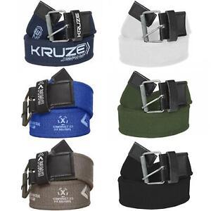 Kruze Designer New Mens Canvas Belt For Jeans Big Tall King Sizes