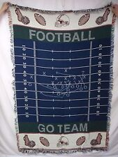 USA Made NWT Football Tapestry Throw Blanket Afghan #499