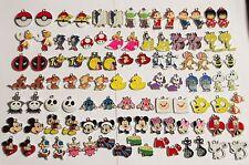 100 IMPERFECT METAL ENAMEL CHARMS Pendants Disney Pokemon Anime Cartoon Animal D