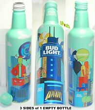 2017 CHICAGO LOLLAPALOOZA MUSIC FESTIVAL BUD LIGHT BEER ALUMINUM BOTTLE CUB BULL