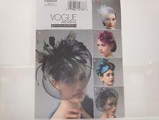 Vogue 8868 Vintage Hats, FACINATOR, STEAMPUNK, ROYAL FASHION  Millinery Pattern