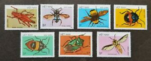 *FREE SHIP Vietnam Insect 1986 1987 Bee Moth Grasshopper Beetle Bug (stamp) MNH