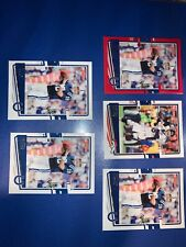 2020 Donruss Peyton Manning Red Parallel Press Proof and 4 base card lot