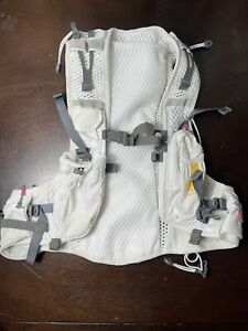 Nathan Vapor Running/Hiking Hydration Vest White and Yellow