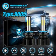 6-Sides 9005 HB3 LED Headlight Bulbs High Beam 6000K White Conversion Kit 2800W