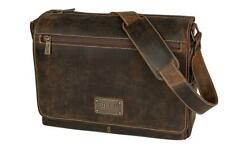 GILLIS Leder Fototasche Messengertasche Trafalga Vintage braun Retro Büffelleder