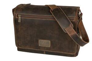 GILLIS Büffel Leder Fototasche Messengertasche Trafalgar Vintage braun Retro