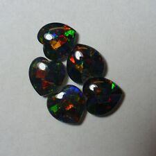 Opal – Jet Backed - Gilson Heart Mosaic Triplet – 8mm - 1 Piece