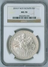 2010 P Boy Scouts of America Commemorative Silver Coin $1 NGC MS 70 MS70
