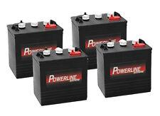 4 x Powerline T105 Battery - 6V Deep Cycle - Trojan Alternative