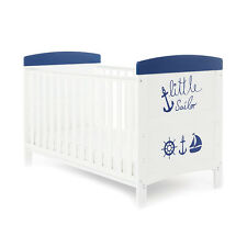 OBABY GRACE COTBED LITTLE SAILOR - BABY BOYS COT NURSERY FURNITURE
