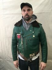 1950s BUD Ganz Design aviakit Lewis Leathers personalizzato VERDE Bronx Giacca