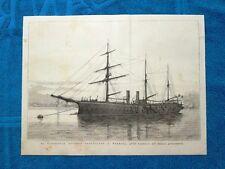 La nave Cristoforo Colombo ormeggiata a Venezia nel 1877